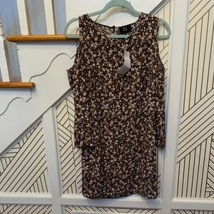 G By Giuliana Cold Shoulder Floral Dress NWT